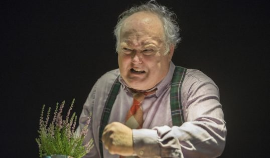 Christopher Craig in The Laird's Big Breaxit Actors Company Scottish Storytelling Centre EdFringe 2018 Pic Douglas Robertson Photography