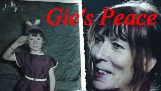Poster for Morna Burdon's Gie's Peace at the Storytelling Centre