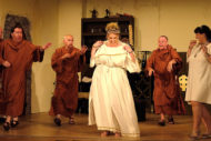 Gordon Braidwood, Ronnie Millar, John Somerville, Louise Fairnie, Iain Fraser, Mandy Black Pic Graham BellCambusdonald Royal from EdinburghPeople's Theatre at Mayfield Salisbury Church