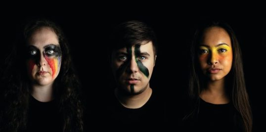 Laura Caban, Harry Jackson and Natalie Kelly. Antigone Amplify Time Productions EdFringe 2018