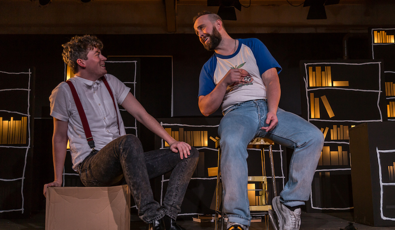 Pierce Reid and Matthew McVarish in Love Song to Lavender Menace. Photo credit – Aly Wight.
