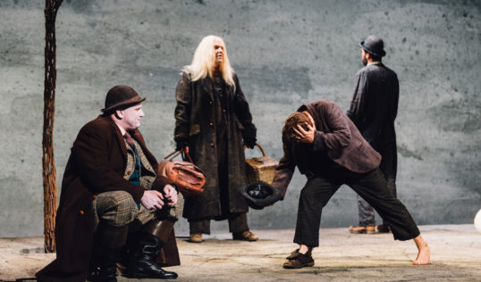 Rory Nolan, Garrett Lombard, Aaron Monaghan and Marty Rea. Waiting for Godot Druid Theatre of Galway At EIF 2018 Pic Ryan Buchanan