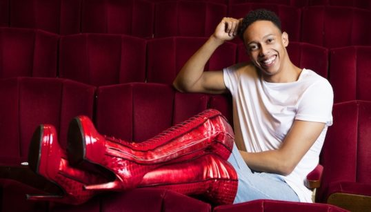 Callum Francis in the Kinky Boots. Pic: Darren Bell