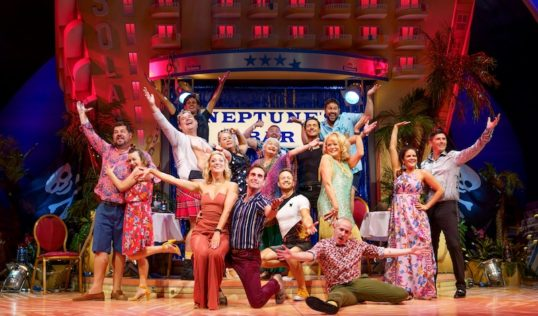 Sherrie Hewson as Joyce Temple-Savage and Company in Benidorm Live. Pic: Paul Coltas