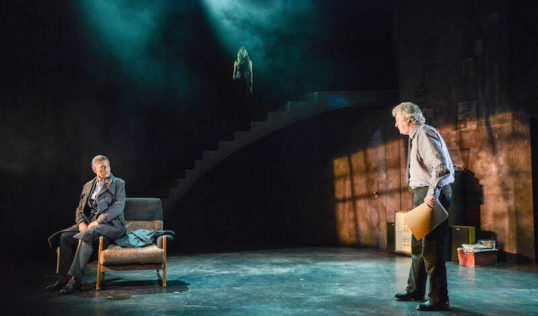Cathy Tyson as Siobhan Clarke & Charles Lawson as Rebus in Rebus: Long Shadows. Pic: Robert Day