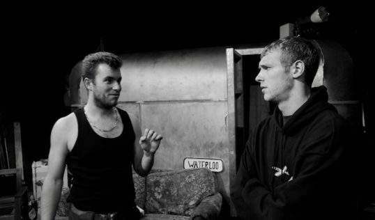 Paddy Echlin (Johnny Rooster Byron) and Rufus Love (Ginger) Pic Callum Pope