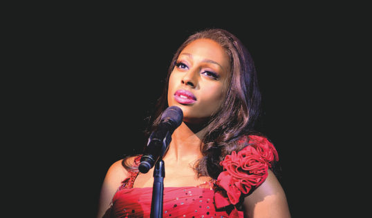 Alexandra Burke in The Bodyguard. Pic: Paul Coltas