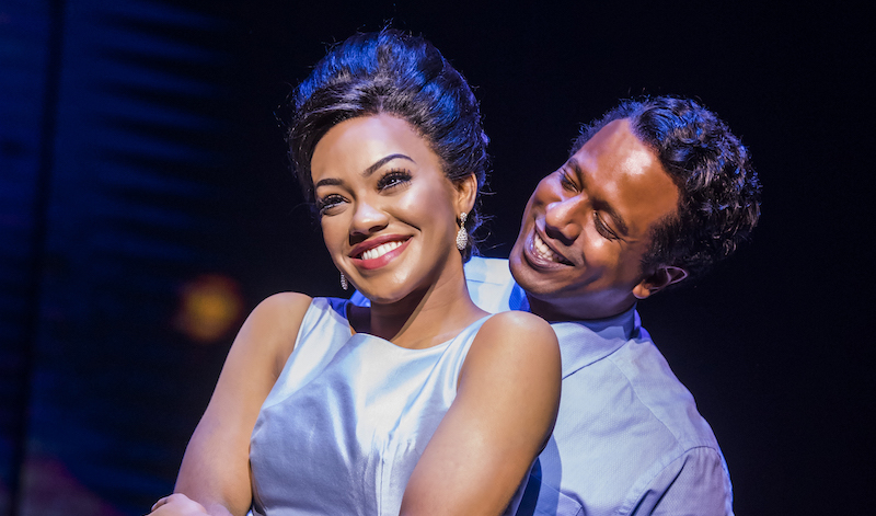 Karis Anderson as Diana Ross and Edward Baruwa Berry Gordy. Pic Tristram Kenton