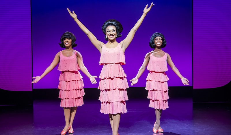 Karis Anderson as Diana Ross with The Supremes. Pic Tristram Kenton