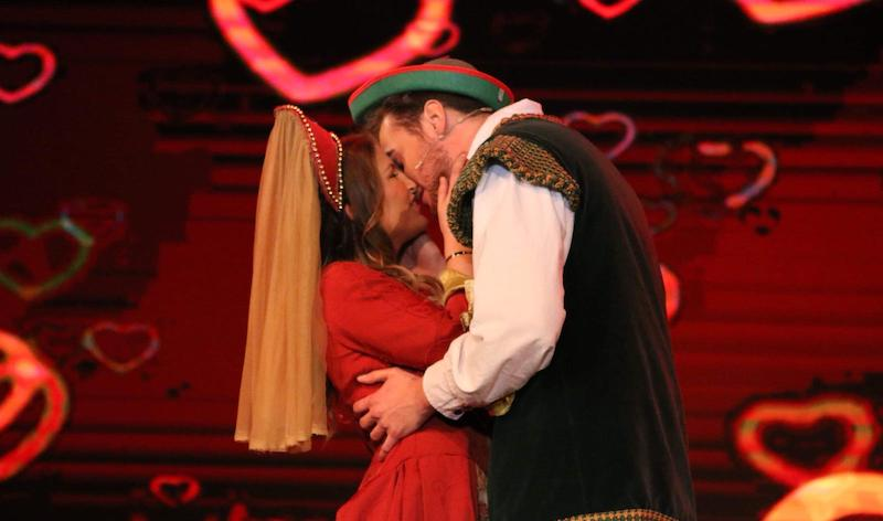 Maid Marion (Ashley Davies) and Robin Hood (Jake Poynter)