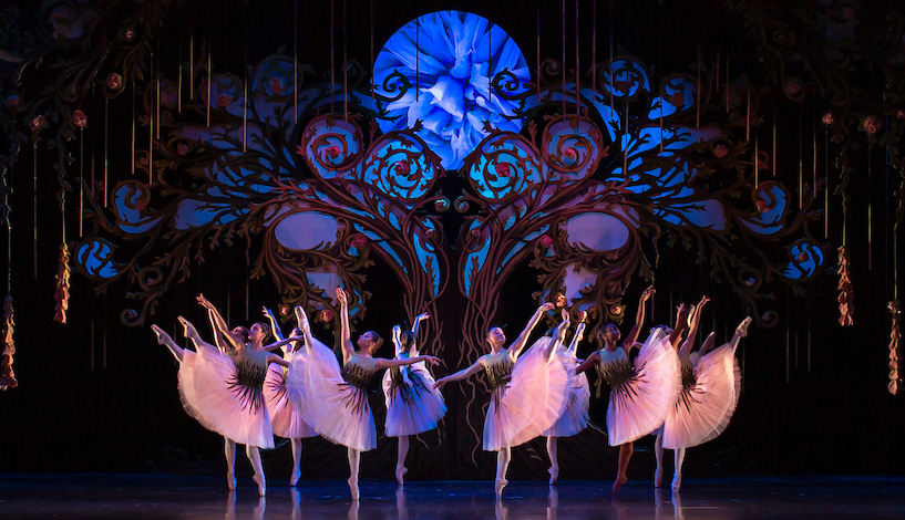 The corps de ballet as Roses. Pic: Andy Ross