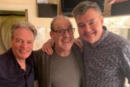 Andy Gray (Centre) back stage after the show with co-stars Allan Stewart (left) and Grant Stott. Photo credit: Grant Stott.