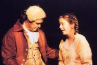 Brodie (Willie French) and his eldest daughter in the 2006 production.