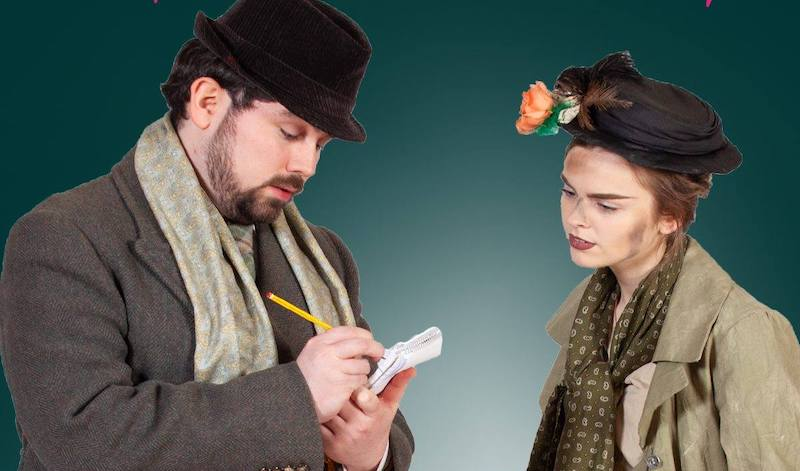 John Bruce (Professor Henry Higgins) and Rebekah Lansley (Eliza Doolittle). Pic Scott Parker