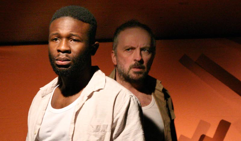 Nick Ikunda and Keith Fleming in Lion Lion. Photo by Leslie Black