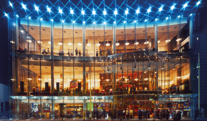 The Festival Theatre at Night. Pic Capitcal Theatres