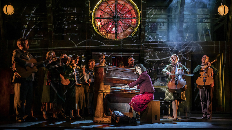 Audrey Brisson and the Cast of Amelie the Musical. Pic Pamela Raith Photography