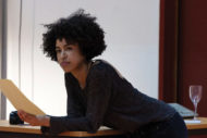 Jade Ogugua in rehearsal for Solraris. Pic: Pia Johnson