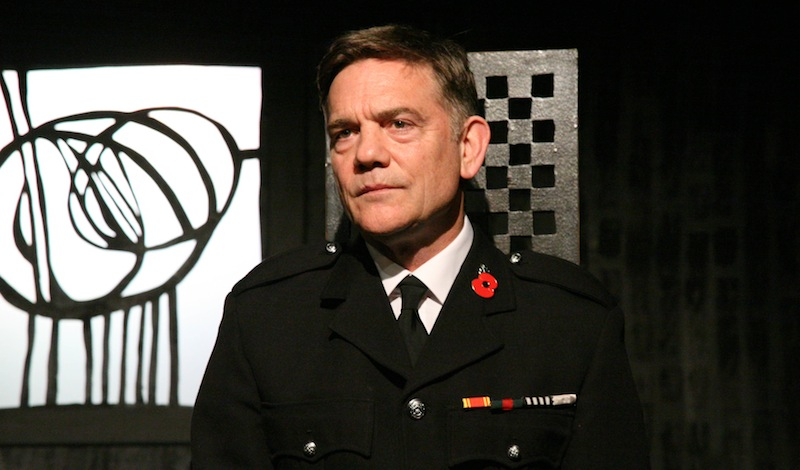 John Michie, Winner of the Best Male Performance award in the 2019 CATS as The Fireman in The Mack (A Play, A Pie and A Pint). Photocredit Leslie Black