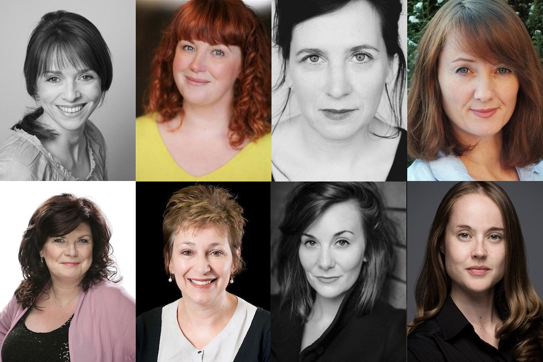 c Fiona Bell, Sally Reid, Louise Ludgate and Victoria Liddelle; Elaine C. Smith, Ros Steen, Rebecca Elise and Helen MacKay