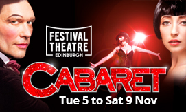 Click here to book for Cabaret at the Festival Theatre, Edinburgh