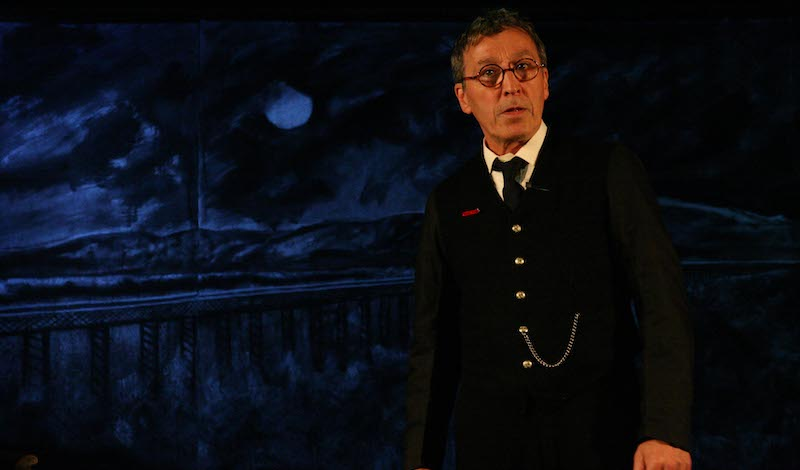 3. Tom McGovern in The Signalman. Photo by Leslie Black