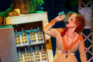 Lesley Joseph as Miss Hannigan. Pic: Annie The Musical