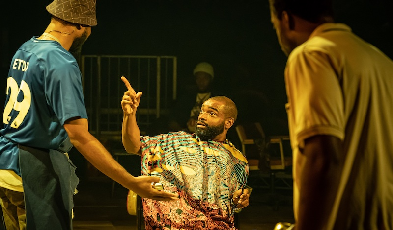Micah Balfour in Barber Shop Chronicles at the Roundhouse (c) Marc Brenner (2)