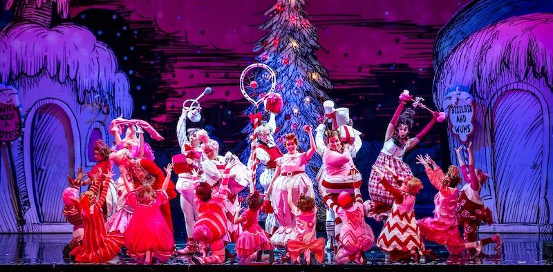 The 2016 touring company of Dr Seuss How The Grinch Stole Christmas the Musical