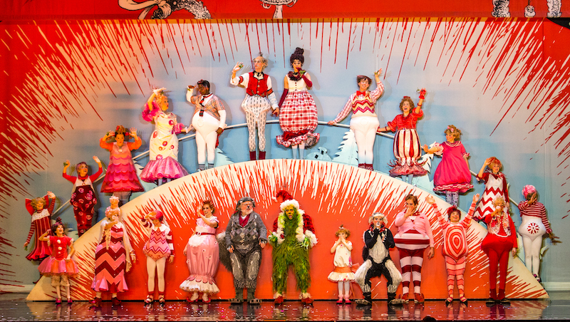 The 2016 touring company of How The Grinch Stole Christmas the Musical