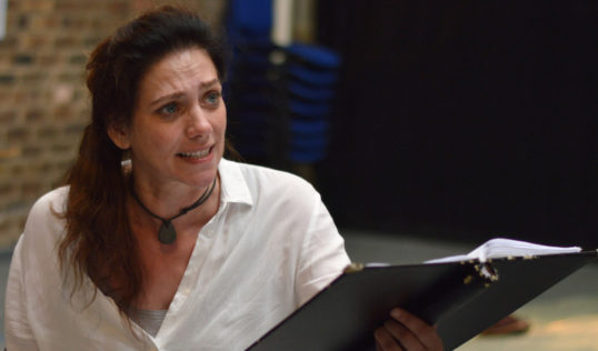 Neve McIntosh in rehearsal for Meet Me at Dawn. Pic: The Traverse