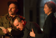 Don Wycherley, Aidan Kelly and Orla Fitzgerald in Fishamble's Inside the GPO. Pic: Pat Redmond