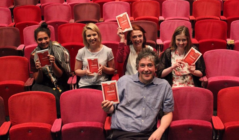 How to Write About Theatre author Mark Fisher with Winchester Young Critics Pic credit Carl Woodward