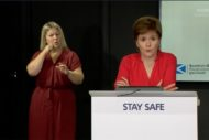 First Minister Nicola Sturgeon addresses the issue of culture funding at her press briefing on Monday 6 July 2020. Screengrab: Thom Dibdin