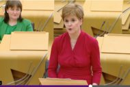FM Nicola Sturgeon announces an indicative date of 14 Sept 2020 for reopening of theatres in Scotland. Screen-grab: Thom Dibdin