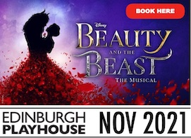 Advert for Beauty and the Beast at the Edinburgh Playhouse November 2021