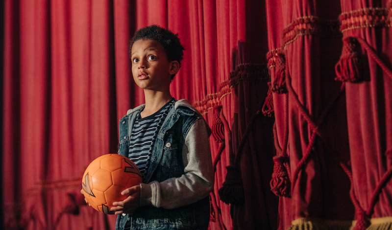 Leo Tetteh as the Young Boy, on set of Scottish Ballet's first ever feature film The Secret Theatre. Credit Mihaela Bodlovic (13)