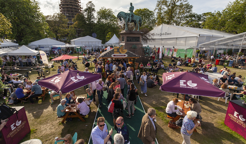 Busy Charlotte Square Gardens at the Edinburgh International Book Festival 2019. Pic: Edinburgh International Book Festival