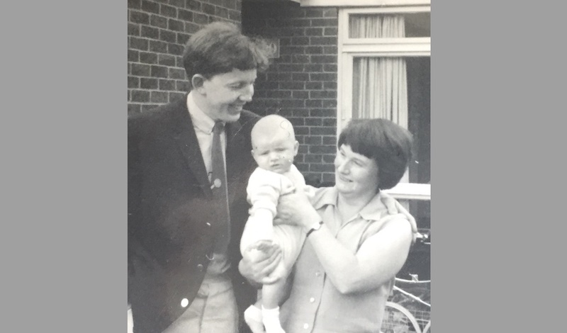 Mark Ravenhill as a baby in 1967 with his mother Angela and his father Ted – Photo Credit Mark Ravenhill – Angela