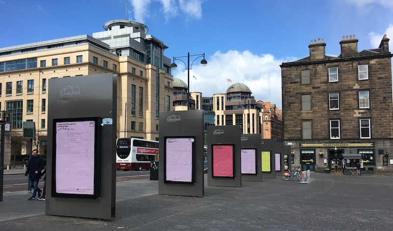 The poster site on Lothian Road